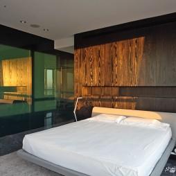2017现代风格四室一厅经典家居主卧室灯饰装修效果图