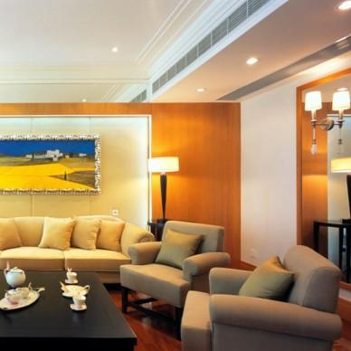 中式别墅手绘客厅实木软包隔断背景墙效果图
