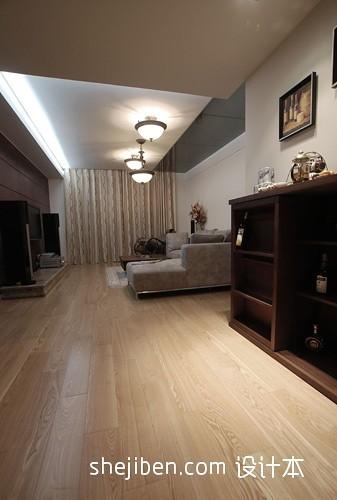 客厅部分杉木地板效果图