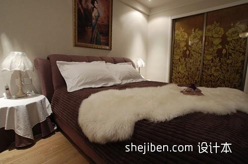 中式别墅床头靠枕效果图