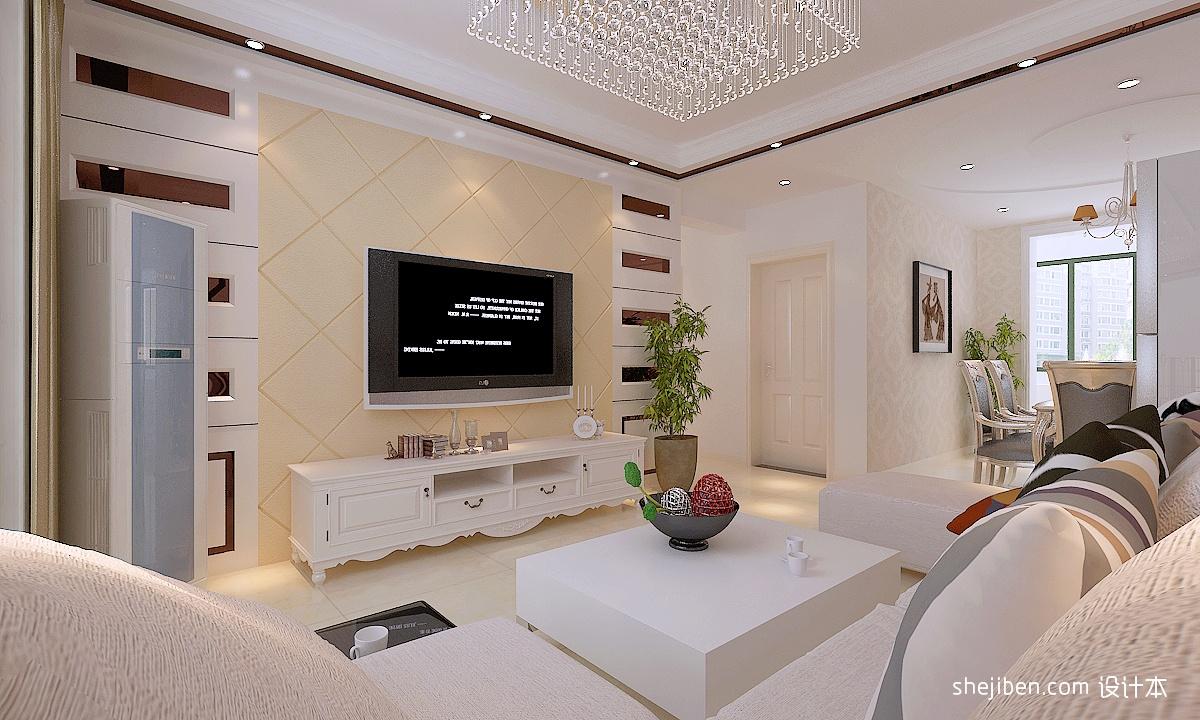 中式风格餐厅背景墙_现代朴风格实客厅液晶电视背景墙效果图 – 设计本装修效果图