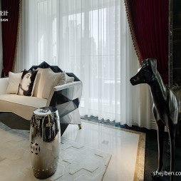 欧式小客厅窗帘设计图