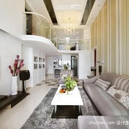 高客厅室内竖纹壁纸设计装修效果图