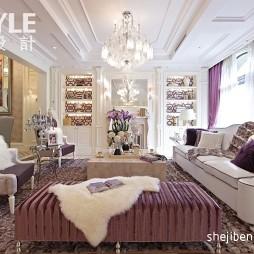 时尚大气欧式客厅吊顶设计图片