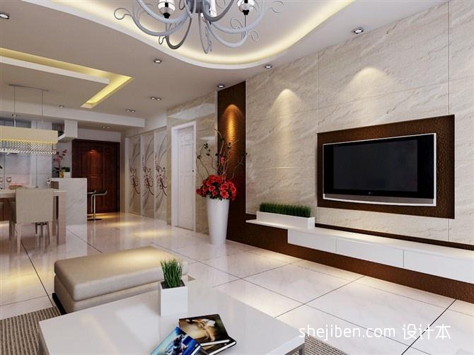微晶石_微晶石瓷砖电视背景墙装修效果图 – 设计本装修效果图