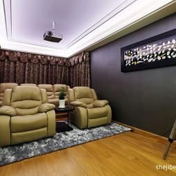 现代家庭影院视听室设计装修效果图