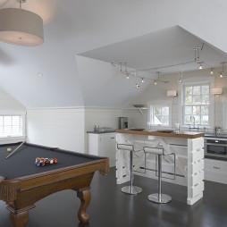 阁楼厨房装饰装修效果图