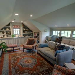 斜顶阁楼客厅装修效果图