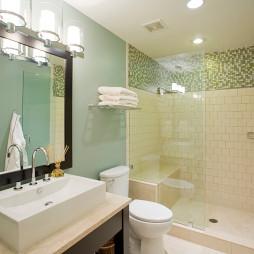 现代风格玻璃隔断淋浴房装修效果图