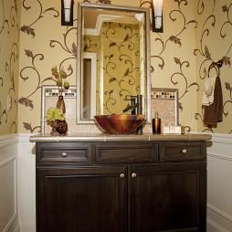 美式风格家居卫生间仿古瓷砖装修图片