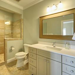 现代风格别墅卫生间玻璃隔断淋浴房推拉门