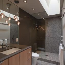 2017现代风格别墅长方形卫生间吊顶马赛克瓷砖装修效果图