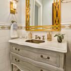 欧式风格2室1厅小空间家用卫生间镜子装修图片