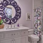 2017欧式风格两居室创意卫生间装修效果图