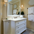 现代风格卫生间镜子装修效果图片