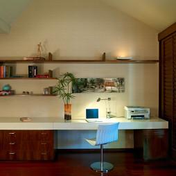 2017现代风格三室一厅时尚家居书房装修效果图