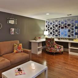 2017现代风格二居室经典书房装修效果图