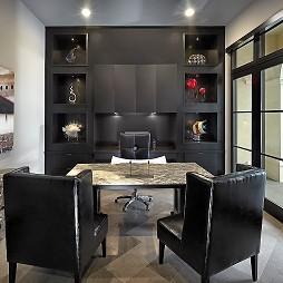 现代风格两室一厅简洁书房壁柜装修效果图