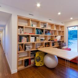 现代书房转角书柜图片