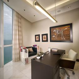 现代风格三室一厅最新书房书桌装修效果图