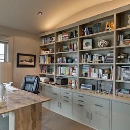 现代风格三室一厅时尚书房装修效果图欣赏