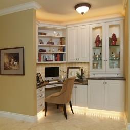 2017现代风格三室一厅小书房隔断装修效果图