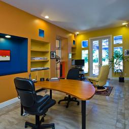 2017现代风格三室一厅书房装修效果图