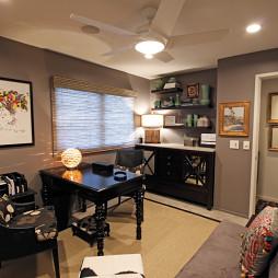 2017现代风格三室一厅个性书房家具装修效果图