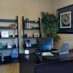 2017现代风格三室一厅豪华书房家具装修效果图