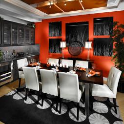 现代风格客餐厅吊顶装修效果图