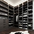现代风格三室一厅鞋柜效果图