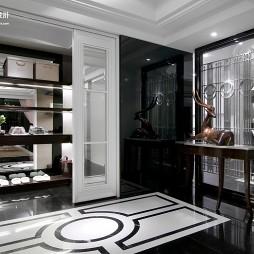 2017欧式风格别墅进门经典大气门厅玄关鞋柜装修效果图片