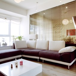 120平米简装90后客厅窗台装修效果图