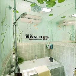 田园风卫生间浴缸效果图