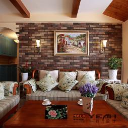 别墅客厅沙发背景墙装修效果图