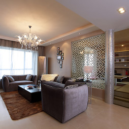 新房简约小客厅吊顶灯设计装修效果图