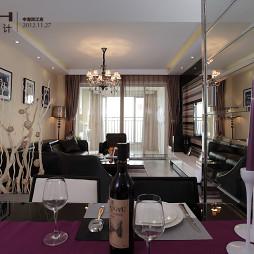 四居室客厅窗帘纱帘造型装修效果图