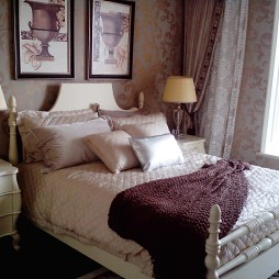 中珠九悦复式样板房欧式卧室壁纸装修效果图
