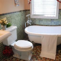 欧式田园卫生间浴缸效果图