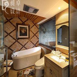 东南亚风格卫生间浴缸效果图