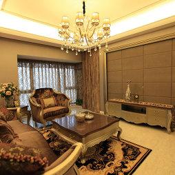 家装简欧式客厅软包背景墙效果图