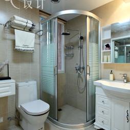中式风卫生间淋浴房效果图