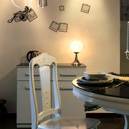 交换空间现代餐厅个性背景墙地柜装修效果图