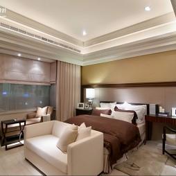 台北样板房新古典卧室休闲椅窗帘装修效果图