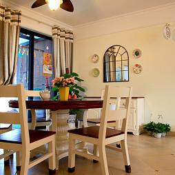 雍景湾田园餐厅落地窗窗帘效果图