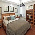 御翠尚府200平米现代美式风格卧室背景墙装修效果图