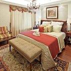 御翠尚府200平米现代美式风格卧室窗帘装修效果图