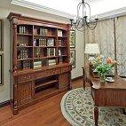 御翠尚府200平米现代美式风格书房家具装修效果图