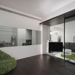 现代客厅隔断玻璃移动门
