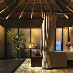 碧海庄园楼王中式卧室装修效果图